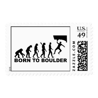 Evolution Born to Boulder Postage Stamps