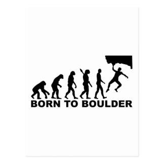 Evolution Born to Boulder Postcard