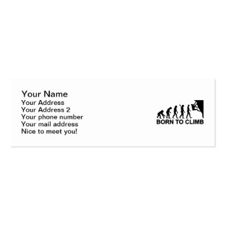 Evolution born to climbing Double-Sided mini business cards (Pack of 20)