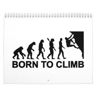 Evolution born to climbing calendar