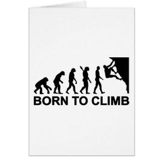 Evolution born to climbing greeting card