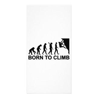 Evolution born to climbing photo card