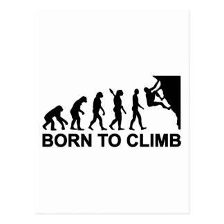 Evolution born to climbing postcard