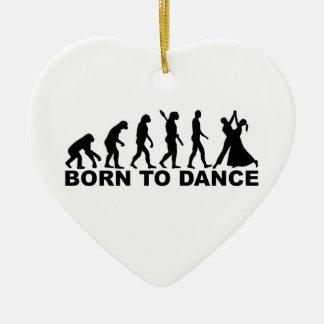 Evolution born to dance ceramic ornament