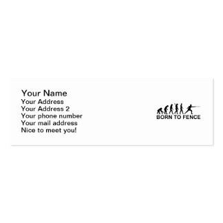 Evolution born to fence Fencing Double-Sided Mini Business Cards (Pack Of 20)