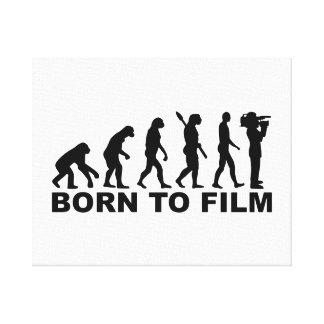 Evolution Born to film Canvas Print