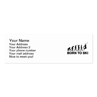Evolution born to freestyle ski business card template