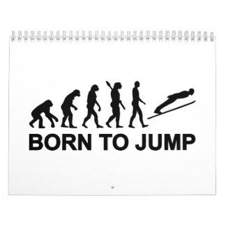 Evolution born to jump ski jumping wall calendar
