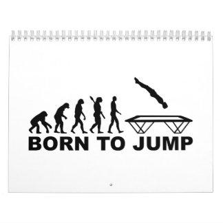Evolution born to jump trampoline calendar