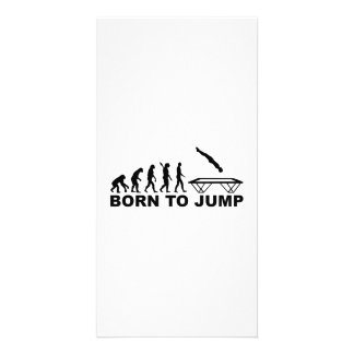 Evolution born to jump trampoline card