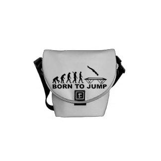 Evolution born to jump trampoline courier bag