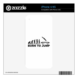 Evolution born to jump trampoline iPhone 4 decal