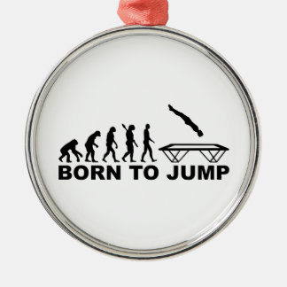 Evolution born to jump trampoline metal ornament