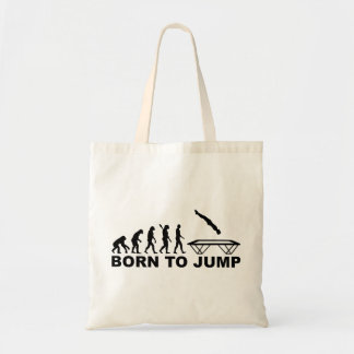 Evolution born to jump trampoline tote bag