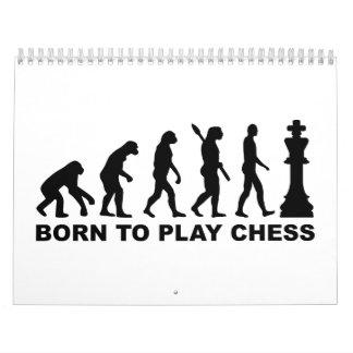 Evolution born to play chess calendar