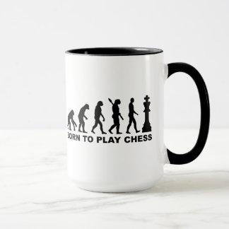 Evolution born to play chess mug