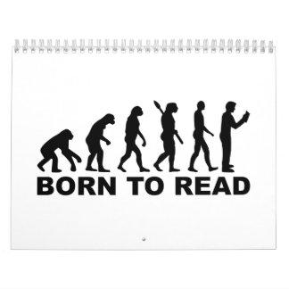 Evolution born to read calendar