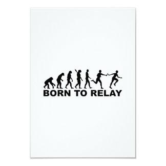 Evolution born to relay 3.5x5 paper invitation card
