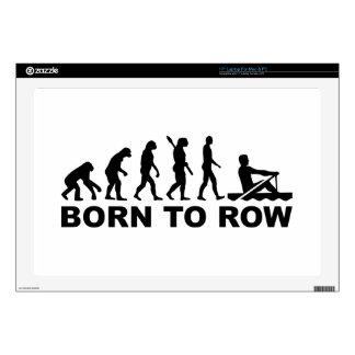 Evolution born to row skin for laptop