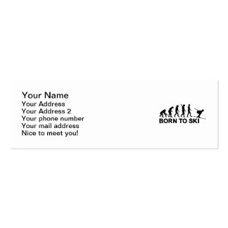 Evolution born to ski business cards