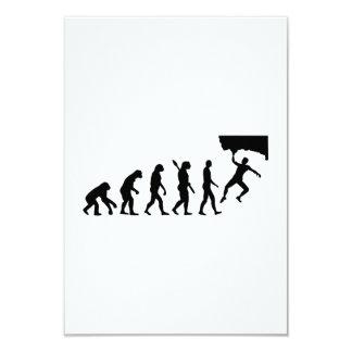 Evolution Bouldering 3.5x5 Paper Invitation Card