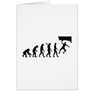 Evolution Bouldering Greeting Card