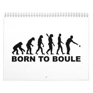 Evolution Boule Petanque Calendar