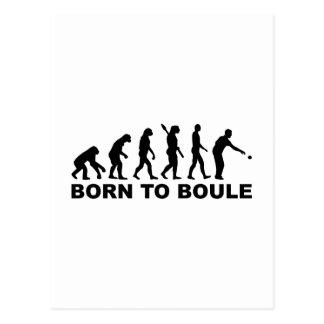 Evolution Boule Petanque Postcard