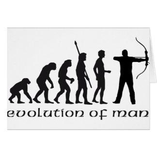 evolution bow and arrow card