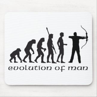 evolution bow and arrow mouse pad