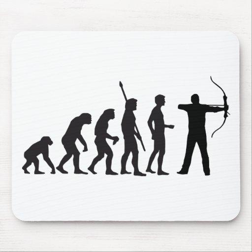 evolution bow and arrow mousepad