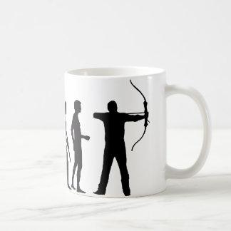 evolution bow and arrow mugs