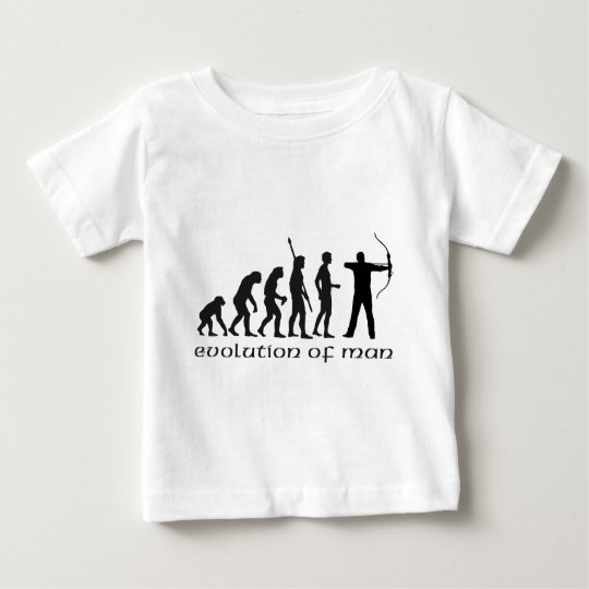 evolution bow and arrow playera de bebé