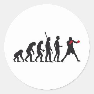 evolution boxing pegatina redonda