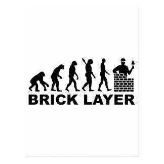 Evolution brick layer postcard