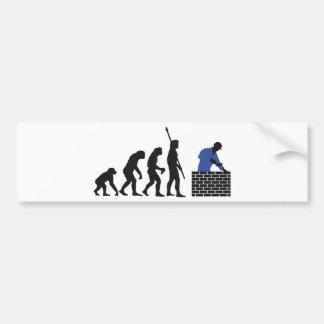 Evolution bricklayer A 2C Bumper Sticker