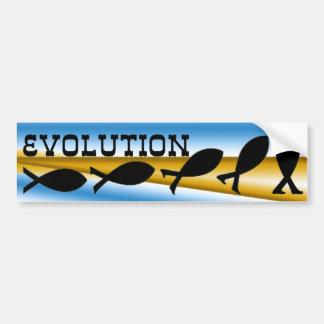 Evolution Car Bumper Sticker