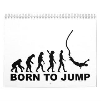 Evolution bungee jumping calendar
