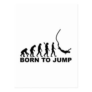 Evolution bungee jumping postcard