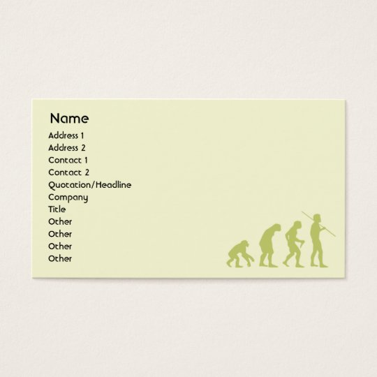 Evolution - Business Business Card