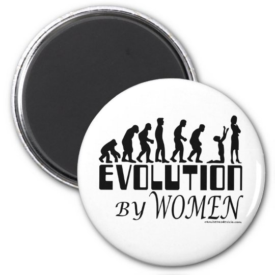 Evolution by Women Magnet