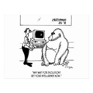 Evolution Cartoon 2839 Postcard