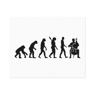 Evolution Cello Canvas Print