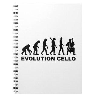 Evolution Cello Spiral Note Books