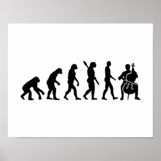 Evolution Cello Poster