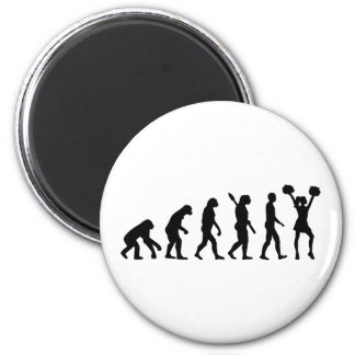Evolution Cheerleader Magnet