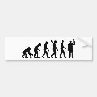 Evolution Chemist Bumper Stickers