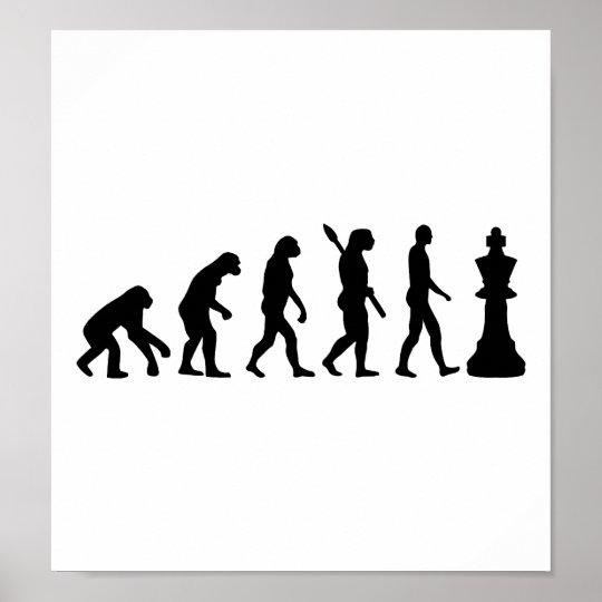 Evolution Chess king Poster