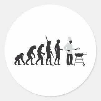 evolution chief pegatina redonda