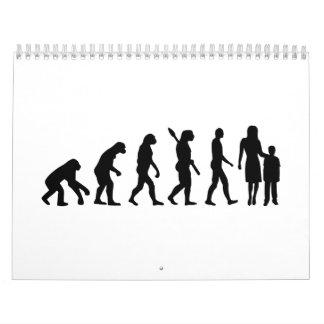 Evolution childcare worker wall calendar